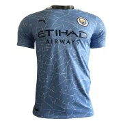 2020/2021 Manchester City Home Blue Men Soccer Jersey Shirt - Match