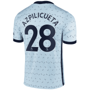 2020/2021 Chelsea Away Light Blue Men's Soccer Jersey Azpilicueta #28