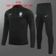 2020/2021 Brazil Black Soccer Training Suit Kid's