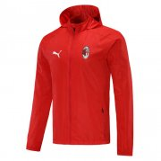 2020/2021 AC Milan Red All Weather Windrunner Soccer Jacket Men's