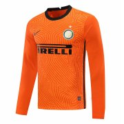 2020/2021 Inter Milan Goalkeeper Orange Long Sleeve Soccer Jersey Men's