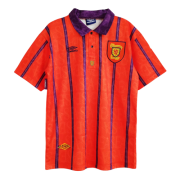 93/95 Scotland Away Red Retro Soccer Jersey Shirt Men
