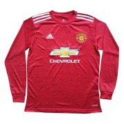 2020/2021 Manchester United Home Red LS Soccer Jersey Men's