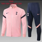 Kid's 2020-2021 Tottenham Hotspur Pink Jacket Soccer Training Suit