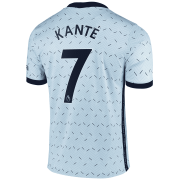 2020/2021 Chelsea Away Light Blue Men's Soccer Jersey Kante #7