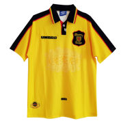 1998 World Cup Scotland Away Yellow Retro Soccer Jersey Shirt Men