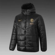 2020/2021 Inter Milan Black Soccer Winter Jacket Men