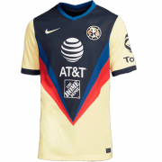 2020/2021 Club America Home Yellow & Navy Soccer Jersey Men's