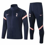 2020-2021 Tottenham Hotspur Navy Jacket Soccer Training Suit