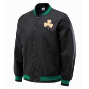 2020/2021 Boston Celtics Full-Snap Black Jacket Mens