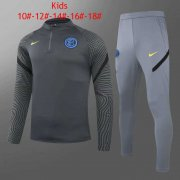 2020/2021 Inter Milan Deep Grey Kid's Soccer Training Suit