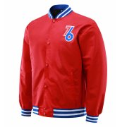 2020/2021 Philadelphia 76ers Full-Snap Red Jacket Mens