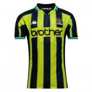 1998-1999 Manchester City Retro Home Black & Yellow Stripes Men Soccer Jersey Shirt