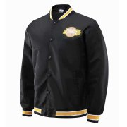 2020/2021 LA Lakers Full-Snap Black Jacket Mens