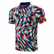 2020/2021 Barcelona Colorful Men's Soccer Polo Jersey Shirt