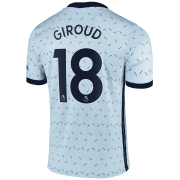 2020/2021 Chelsea Away Light Blue Men's Soccer Jersey Giroud #18