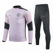 2020-2021 Manchester City Pink Half Zip Soccer Training Suit