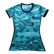 2020/21 Liverpool Away Green Women Soccer Jersey Shirt
