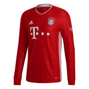 2020/2021 Bayern Munich Home Red LS Men's Soccer Jersey Shirt