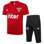 2020-2021 Sao Paulo FC Short Soccer Training Suit Red
