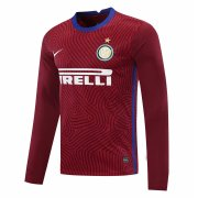 2020/2021 Inter Milan Goalkeeper Red Long Sleeve Soccer Jersey Men's