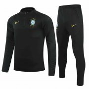 2021/2022 Brazil Black Soccer Training Suit Men's