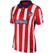 2020/2021 Atlético de Madrid Home Red&White Stripes Women Soccer Jersey Shirt