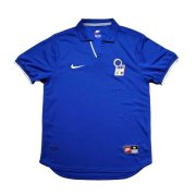 1998 Italy World Cup Retro Home Blue Men Soccer Jersey Shirt