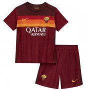 2020/2021 AS Roma Home Red Kids Soccer Jersey Kit(Shirt + Short)