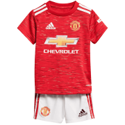 2020/2021 Manchester United Home Red Soccer Jersey + Short Kid's