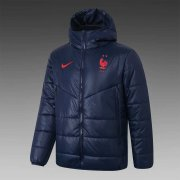 2020/2021 France Navy Soccer Winter Jacket Men's