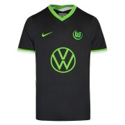 2020/2021 VfL Wolfsburg Away Black Soccer Jersey Men's