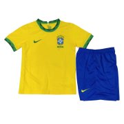 2020 Brazil Home Yellow Kids Soccer Jersey Kit(Shirt + Short)