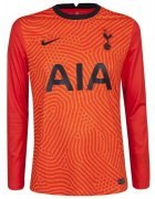 2020/2021 Tottenham Hotspur Home Goalkeeper Orange LS Soccer Jersey Men's