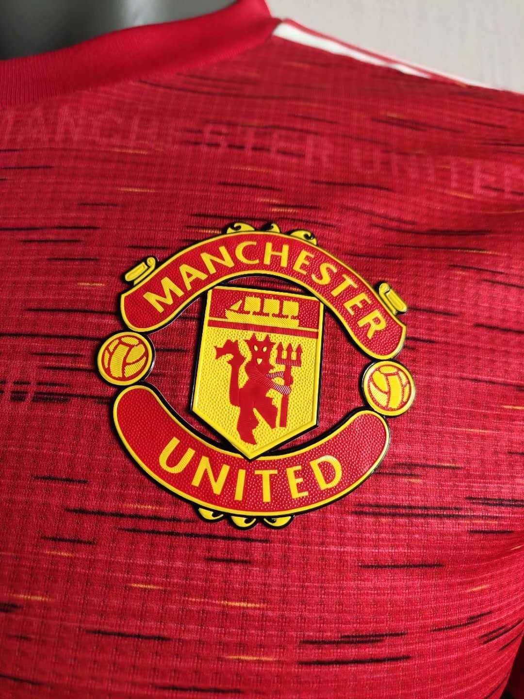 2020/21 Manchester United Home Red Men Soccer Jersey Shirt - Match