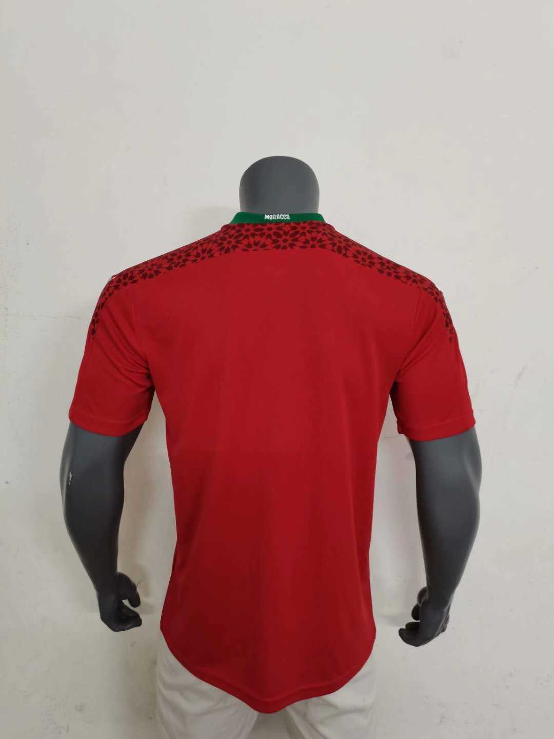 2020/2021 Morocco Home Soccer Jersey Men's