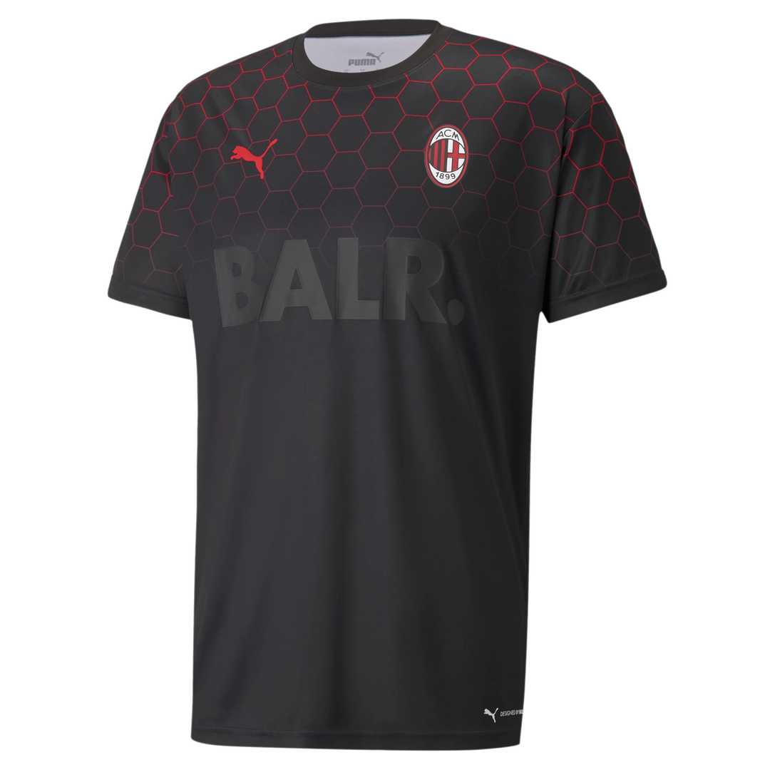 2020/2021 AC Milan x BALR Signature Black Soccer Training Jersey Men