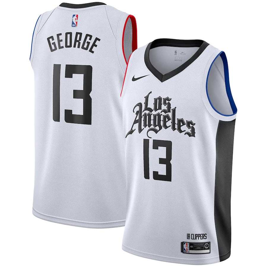 2020/2021 Los Angeles Clippers White Swingman Jersey City Edition Men