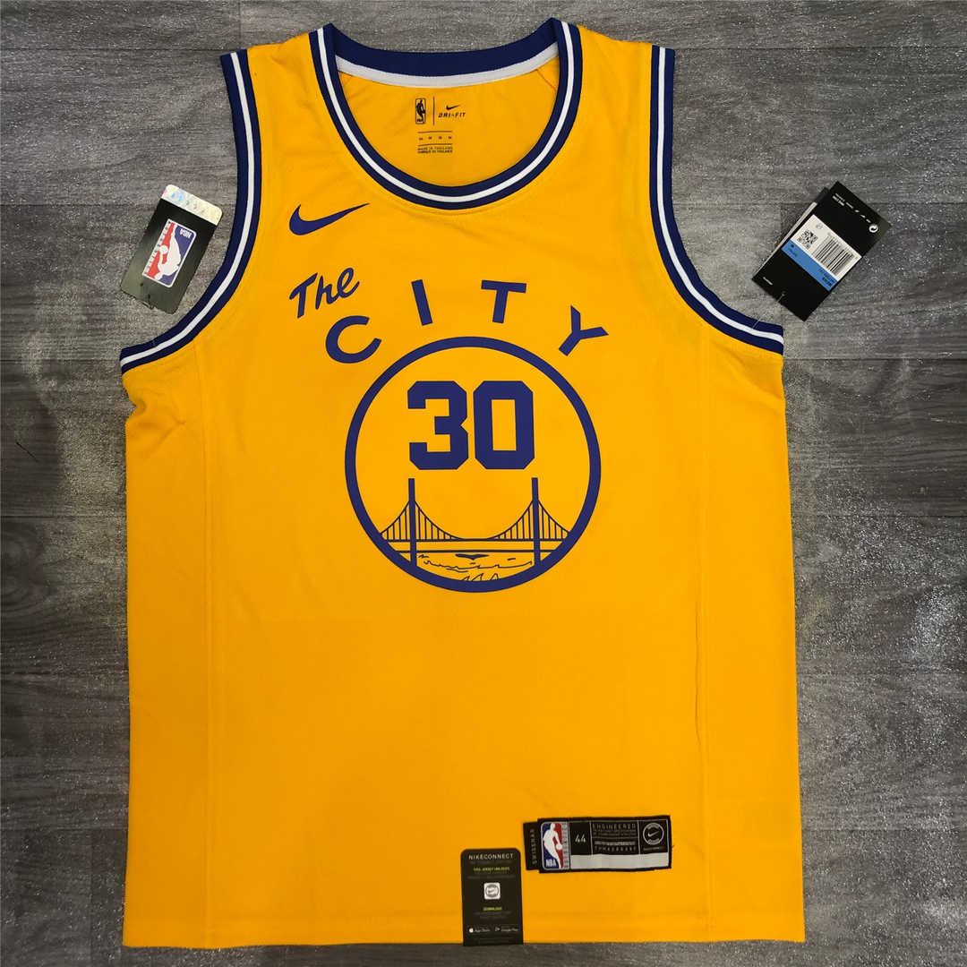 Golden State Warriors Gold Swingman White - Hardwood Classics - San Francisco Classic Edition Jersey