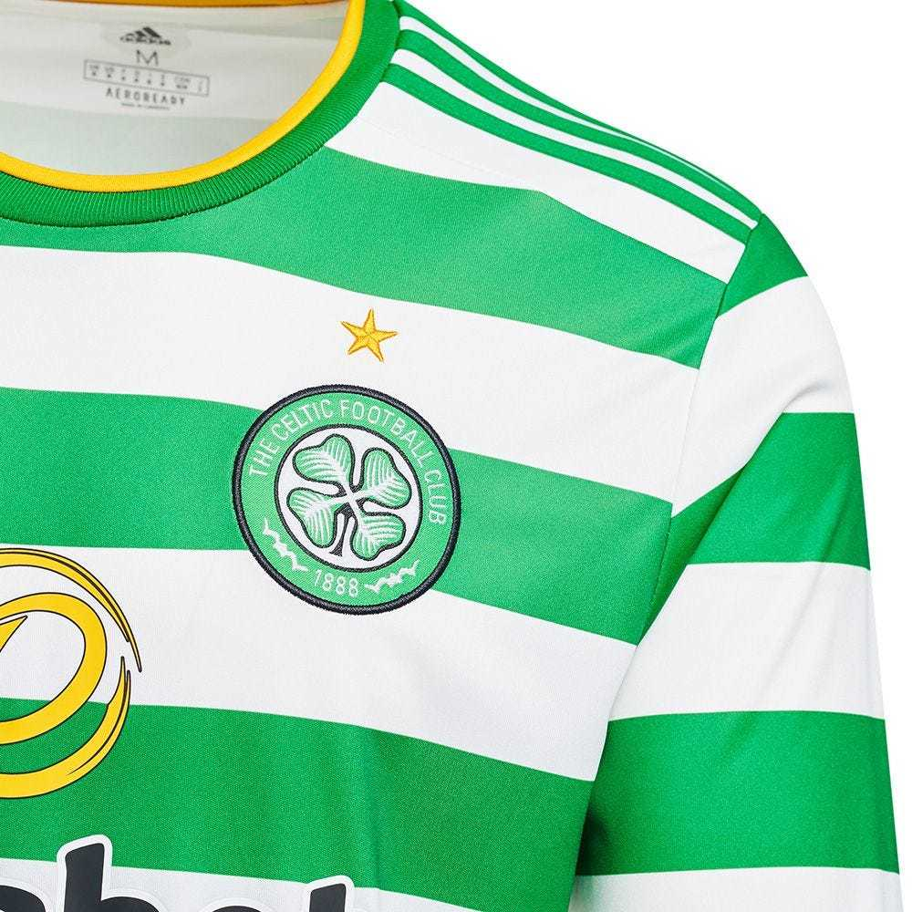 2020/2021 Celtic FC Home Green&White Stripes LS Soccer Jersey Men's
